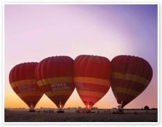 アリススプリングスの熱気球 オプショナルツアー
