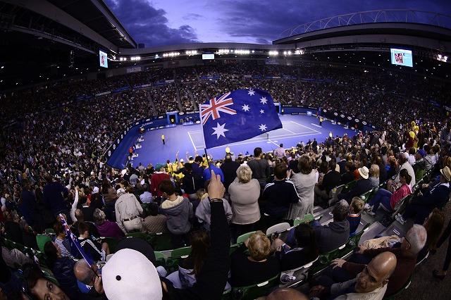 メルボルンの全豪オープンテニス オプショナルツアー