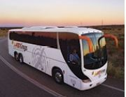 エアーズロックのバスでアリススプリングス オプショナルツアー