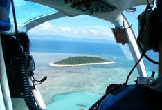 ヘリコプターで行くグリーン島 フライ&クルーズ